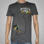 The Bamboozle 2007 Headphones Gray T-Shirt