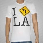The Bamboozle Left 2008 I Love LA White T-Shirt