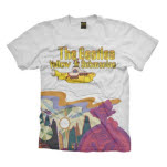 The Beatles Yellow Sub Logo And Scenery T-Shirt