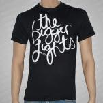 The Bigger Lights White Logo on Black T-Shirt