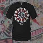official The Chariot Bullseye Black T-Shirt