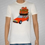 The Color Fred Veggie Powered Car Natural T-Shirt