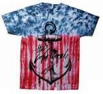 The Color Morale Anchor Flag Tie Dye T-Shirt
