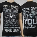 The Color Morale Get Through Black T-Shirt