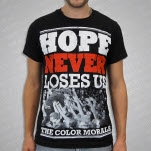 The Color Morale Hope Never Loses Us Black T-Shirt