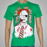 The Devil Wears Prada Guy Wearing Tie Kelly Green T-Shirt