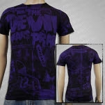The Devil Wears Prada Mayhem all over print Purple T-Shirt
