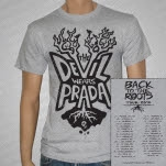 The Devil Wears Prada Roots Tour Tri Athletic Grey T-Shirt