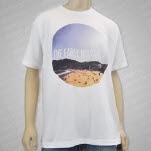 The Early November Beach White T-Shirt