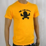 The Explosion Skull Gold T-Shirt
