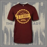 The Hold Steady Seal Maroon T-Shirt