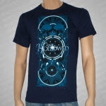 official The Hollowed Skulls Navy Blue T-Shirt