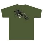 The Human Abstract Gull Army Green T-Shirt