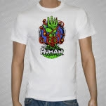 The Human Abstract Hand White T-Shirt