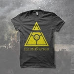 The Illumination Yellow Triangle Charcoal T-Shirt