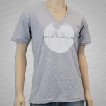 The One AM Radio Moon Heather V Neck T-Shirt