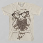 The Orphan    The Poet Owl Natural T-Shirt