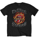 The Rolling Stones Flaming Tattoo Tongue T-Shirt