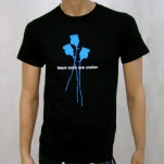 These Arms Are Snakes Blue Rose Black T-Shirt