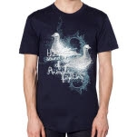The Sound Of Animals Fighting Doves Navy T-Shirt
