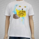 The Sound Of Animals Fighting Owl White T-Shirt