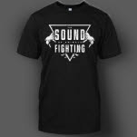 The Sound Of Animals Fighting Roar Master Black T-Shirt