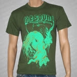 The Sound Of Animals Fighting Squid Man Army Green T-Shirt