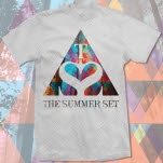 The Summer Set Triangle Logo Heather Grey T-Shirt
