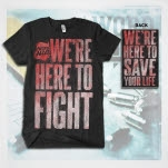 The Word Alive Here To Fight Black T-Shirt
