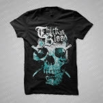 Thick As Blood 2 Color Skull Black T-Shirt