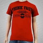 Think Fast Records 10 Years Cardinal Red T-Shirt