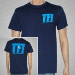 Think Fast Records Logo Blue On Blue T-Shirt