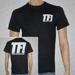 Think Fast Records Logo White on Black T-Shirt