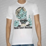 Think Fast Records Zombie White T-Shirt