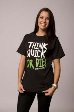 ThinkQuick Clothing ThinkQuick or Die Black T-Shirt