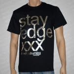 This City Is Burning Records Stay Edge Silver Foil Black T-Shirt