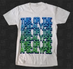 This Or The Apocalypse Big Text V Neck White T-Shirt