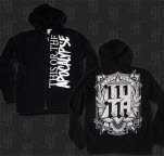 This Or The Apocalypse Vertical Logo Black Hoodie Zip