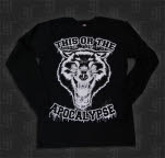This Or The Apocalypse Wolf Black Long Sleeve Shirt