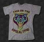 This Or The Apocalypse Wolf Heather Grey T-Shirt