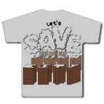 Throwing Bricks Lets Save NYC Brown Print Ash Gray T-Shirt