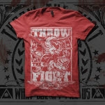 Throw The Fight Dragon Red T-Shirt