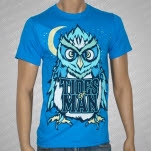 Tides Of Man Owl Teal T-Shirt