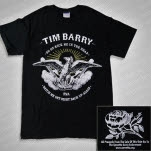 Tim Barry Go On Kick Me Black T-Shirt