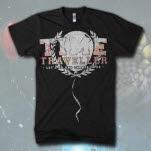 Time Traveller Balloon Black T-Shirt