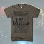 Time Traveller Space Tri Coffee T-Shirt
