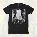 Tonight Alive BlackWhite Album Cover Black T-Shirt