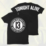 Tonight Alive Lyric 13 Black T-Shirt