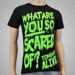 Tonight Alive What Are You Scared Of Black T-Shirt