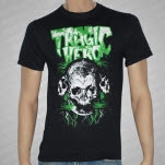 Tragic Hero Records Green Print Skull Black T-Shirt